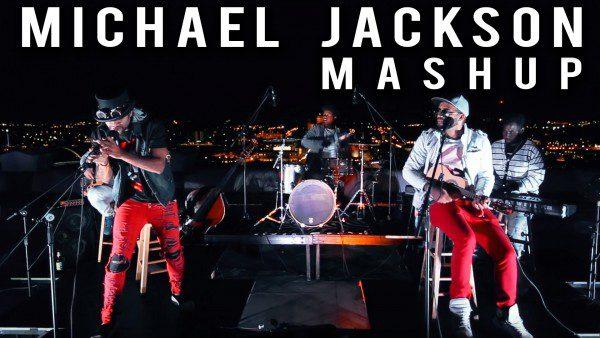 B2wins live rooftop show michael jackson mashup violin ukulele