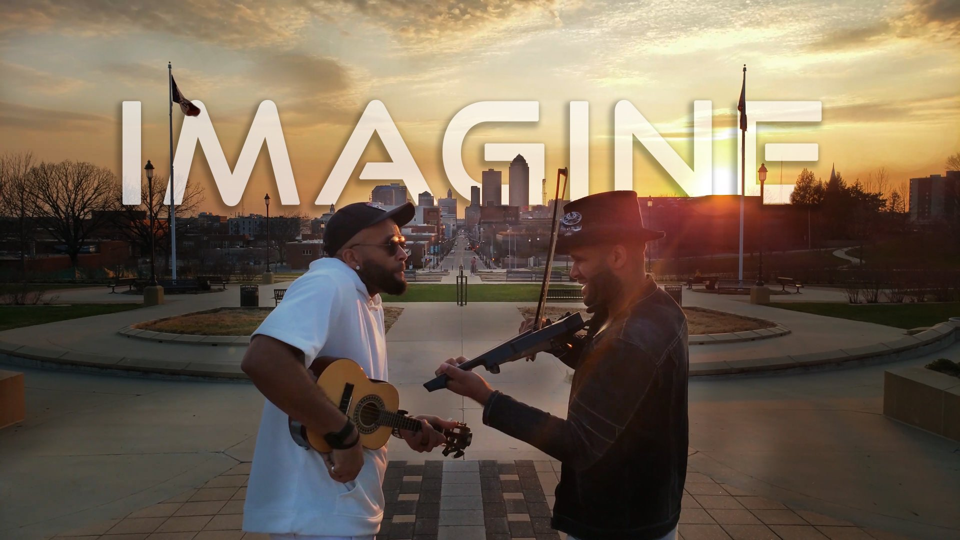 "John Lennon ""Imagine"" at Sunset – Violin and Ukulele cover"